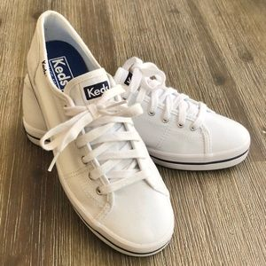 Keds Women's Kickstart Lace Up Sneaker- White